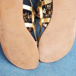 Tory Burch Shoes - Tory Burch Vaughn Gold Gladiator Sandals